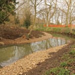 Recent restoration work on the River Welland: Before (above) and after (below).