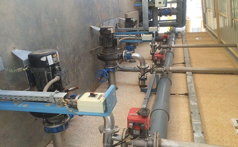 Poultry wastewater aerated in Saudi Arabia   Envirotec
