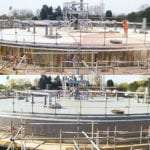 Oxford Sewage Treatment Works before and after