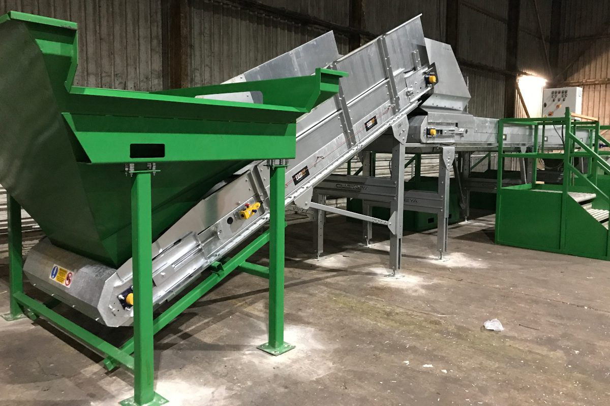 compostables sorting line