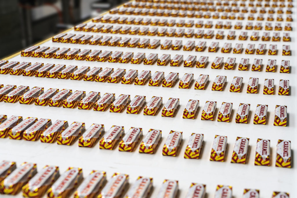 Tunnock's Caramel Wafers on Bosch Packaging system
