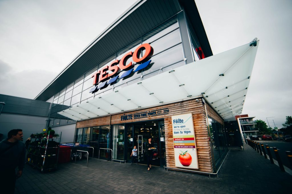 Tesco entrance