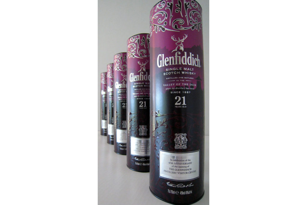 Glenfiddich celebration whisky packaging