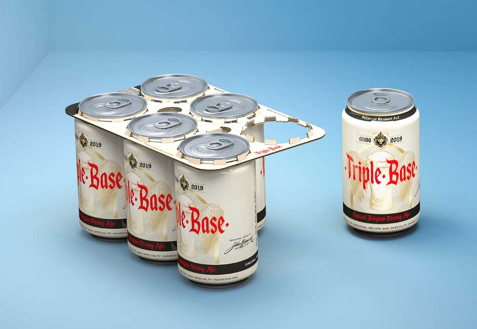cans in cardboard holder
