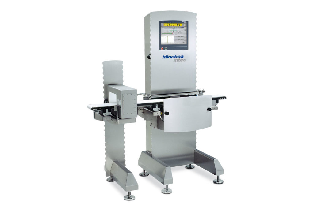 Minebea Intec checkweigher with metal detection
