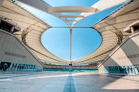 The Moses Mabhida Stadium in Durban built for the 2012 World Cup, incorporated Wrightsyle glazed systems.