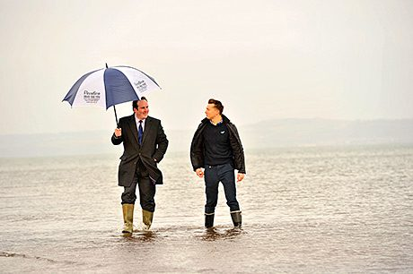 A campaign has been launched by meteorologist and TV weatherman Sean Batty to encourage people in the 28 areas to sign up to receive advance warnings from. Environment minister Paul Wheelhouse MSP.