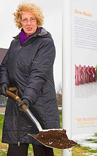 HOUSING minister Margaret Burgess was 'shovel ready' when she dug in to mark the start of construction on a house that could set the standard for the future.