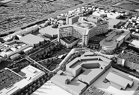 THE new South Glasgow Hospital is set to become something of a showcase for a drainage company's products.