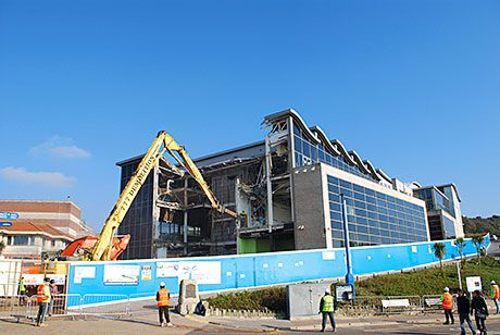 A cinema complex once dubbed Britain's most despised building has been demolished
