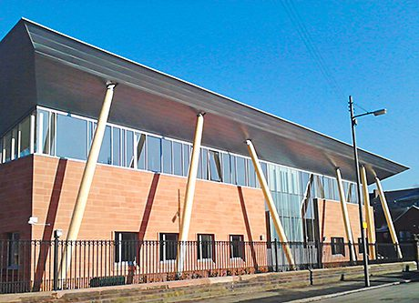 SCOTLAND'S famous Locharbriggs red sandstone has been used to clad the first epilepsy centre of its kind in the country.