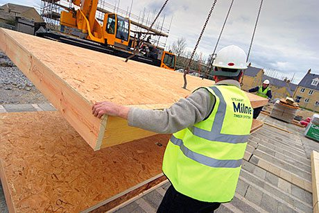 Builders turn to timber as brick shortage continues