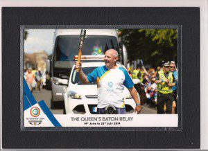 Cruden Homes' Site Manager, Phil Purves, taking part in the Queen's Baton Relay (1)