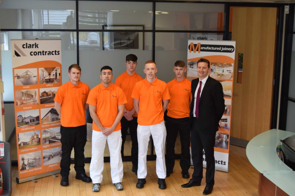 Clark Contracts Welcomes New Apprentices Project Scotland