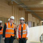 John Swinney and Finlay Black tour Merkinch campus